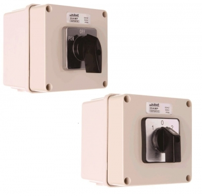 Switch Forward/Reverse Pulset 32Amp 240v/415v IP56 Forward/Reverse Square