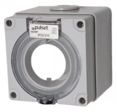 Socket Square Pulset 5 Pin 10A 3 Phase 415v IP56