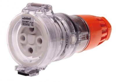 Socket Extension Pulset 4 Pin 50A 3 Phase 415v IP56