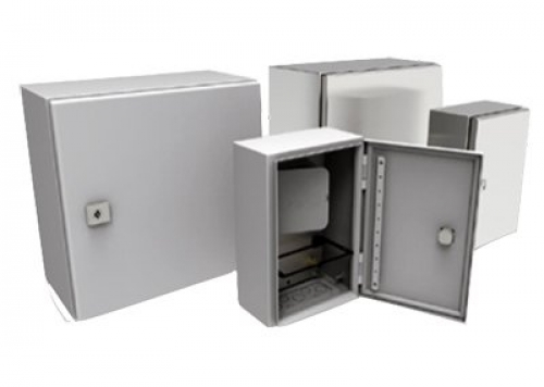 Two-panel IP-rated small wall enclosure