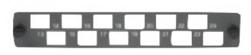 SC/LCD 12-port 13-24hp 24dp flat coupler panel