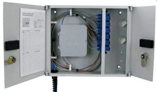 Two-panel compact modular wall enclosure