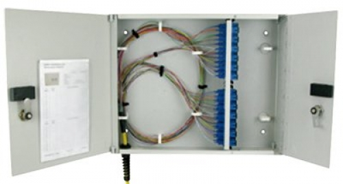 Four-panel mid-range modular wall enclosure