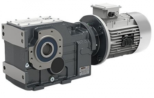 Transtecno Cast Iron Right Angle Bevel Gearbox ITB443 Ratio 124.32/1 60mm Hollow