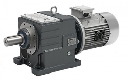Transtecno Cast Iron Inline Helical Gearbox ITH122 Ratio 26.28/1 40mm Solid Outp