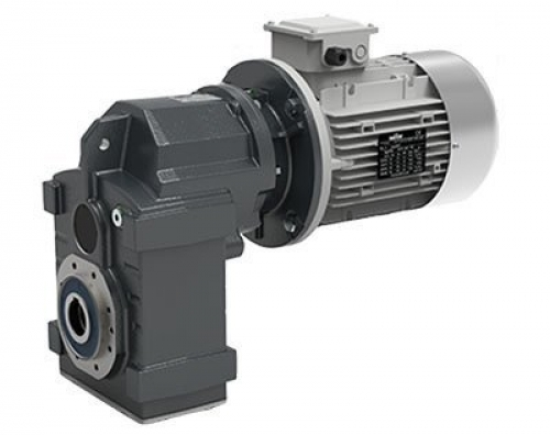 Transtecno Cast Iron Helical Parallel Shaft Gearbox ITS932 Ratio 46.73/1 50mm Ho