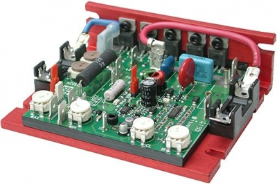DC SCR Speed Controller, Chassis Mount, Non-Reversing, Speed, 115v AC, Max 0.5 H