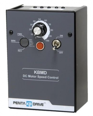 DC SCR Speed Controller, NEMA 1 Switch Reversing, 115/230v AC, Max 0.75/1.5 HP,