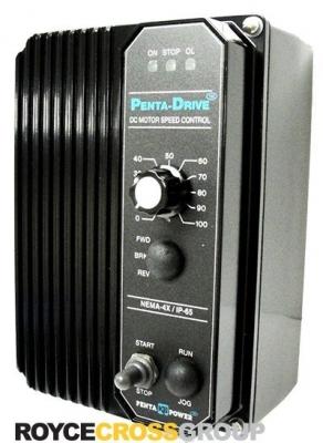 DC SCR Speed Controller, NEMA 4X Regen Reversing, 115/230v AC, Max 1.0/2.0 HP, 9