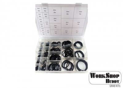 Cir Clip Assortment Pack, Internal Metric 360 Pieces