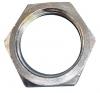 M25 brass electroless nickel LNZ brass lock nut - metric