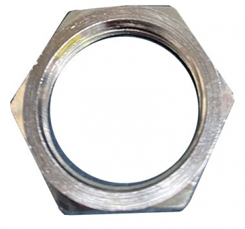 M63 brass electroless nickel LNZ brass lock nut - metric
