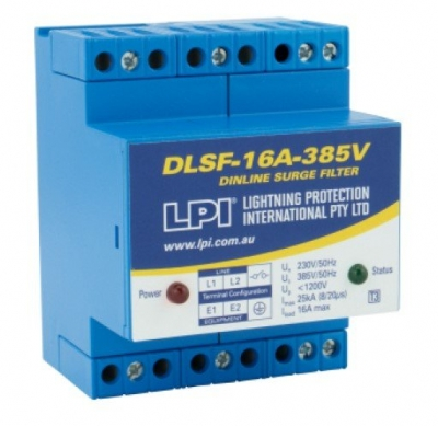 Surge Filter, 1Ph 20A / 277v (Ph-N) 25Ka, C/W Alarm Contacts & Status Led
