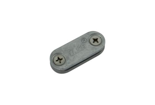 TAPE SADDLE (ALUMINIUM), t/s 25 x 3mm TAPE, FIX @ 0.9 - 1.0m CENTRES