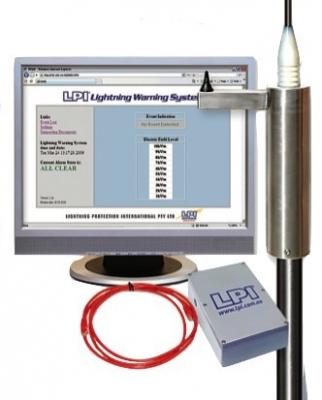 Lightning warning system - 12V solar panel console