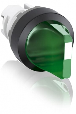 Selector Switch Short Handle 2 Position Illuminated Green B&C