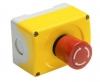 Emergency Stop Station, MRH(Red) 40mm Series,  Twist To Release, With 2x Normall