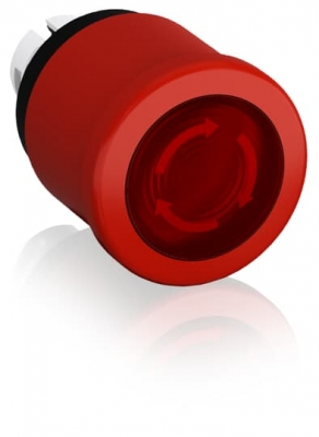 Emergency Stop Push Button Illum 40mm Red Twist Release