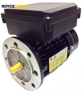 RCG alloy D56 0.09kW 4p TEFC B5 flange mount 1 phase 240V IP55 cap run motor