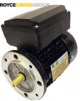 RCG alloy D56 0.12kW 2p TEFC B5 flange mount 1 phase 240V IP55 cap run motor
