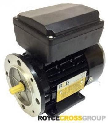 RCG alloy D63 0.12kW 4p TEFC B5 flange mount 1 phase 240V IP55 cap run
