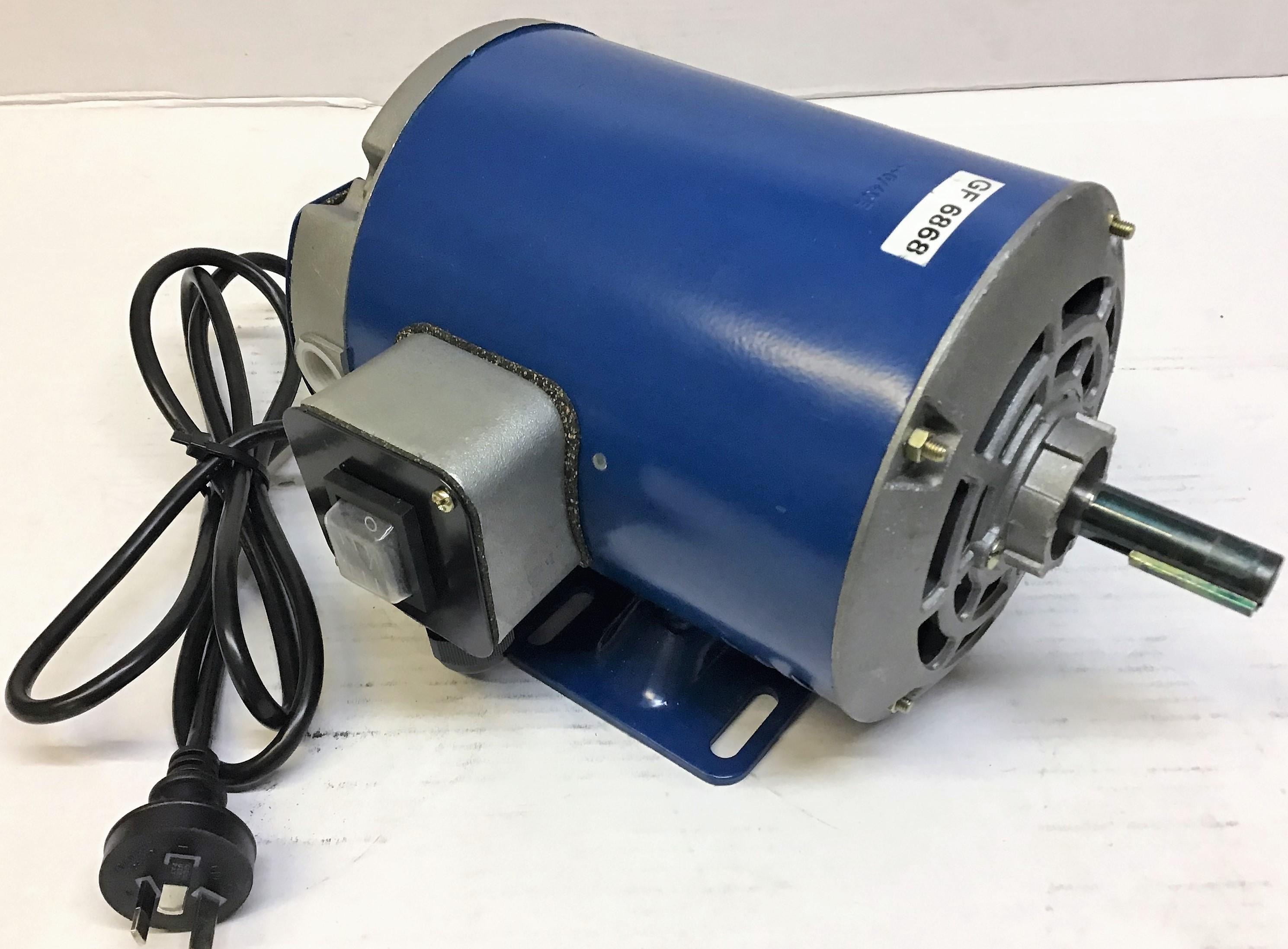 Crompton Greaves 0.25kW 4p B3 foot mount 240V cement mixer motor - switch & lead
