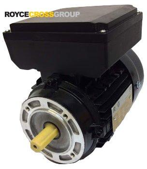 RCG Alloy D71 0.37kW 2p TEFC B14A flange mount 1phase 240V IP55 CSCR