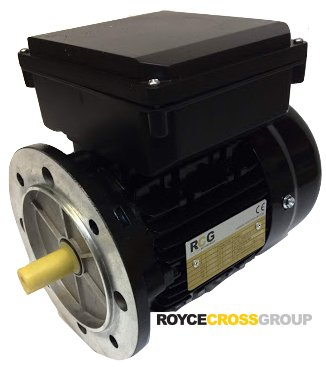 RCG alloy D71 0.55kW 2p B5 flange mount 1 phase 240V IP55 motor