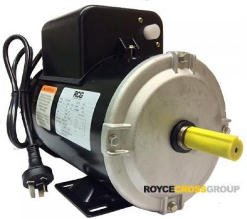 RCG B56 1.5kW 4P TEFC B3 foot mnt CSCR 240V steel 5/8 shaft Motor c/w 1m Lead