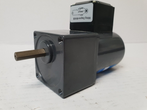 240V single-phase spit motor - 7.5rpm output, 50Hz, 60mm with terminal box