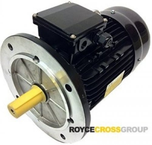 RCG Alloy D71 0.55kW 2P B14A TEFC Flange Mount 415/3/50 IP55 Electric Motor 14mm