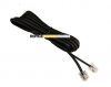 3m black line cord RJ12/RJ12