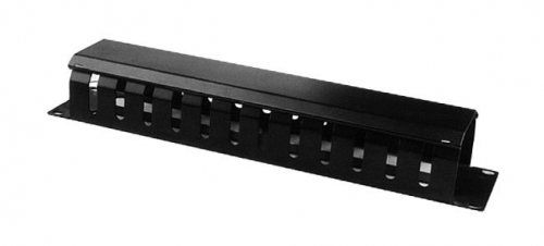 Cable Manager 13 Finger With Lid, Nuts & Screws, 1RU (TE)