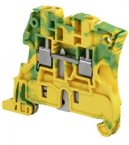 ZS4-PE Green/Yellow Screw Clamp Terminal Block - Ground