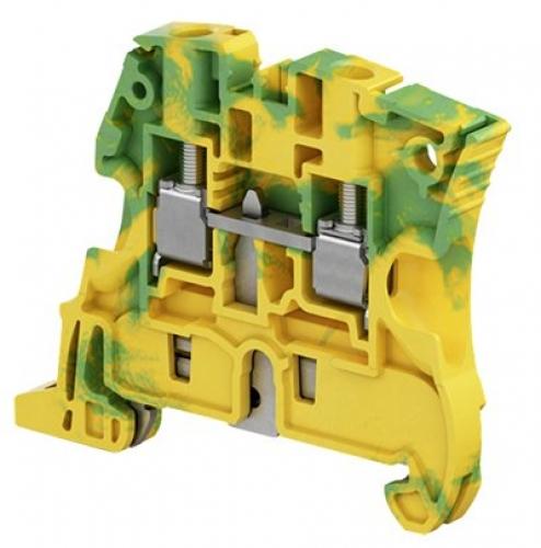 S6-PE screw clamp terminal block - ground - green/yellow 0.2-6mm
